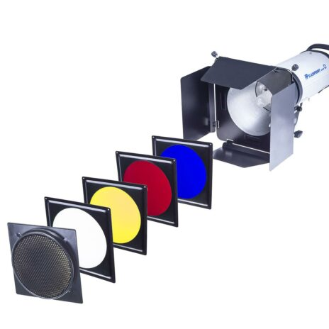 Flashpoint Universal Barn Door Kit with Grid and Gels