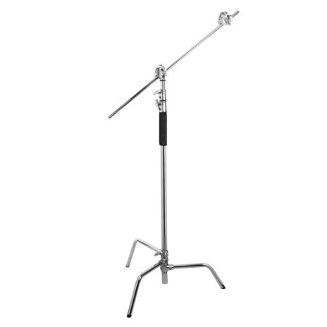Flashpoint 10′ C Stand on Turtle Base Kit, 40″ Grip Arm & Two 3″ Gobo Heads