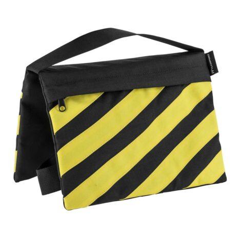 Flashpoint Empty Saddle Sandbag, Cordura Nylon – (15lb Capacity, Yellow & Black)