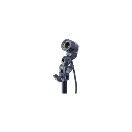 Flashpoint Single Socket Light Fixture for Light Stands with Umbrella Mount