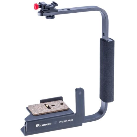 Flashpoint Rotating Camera Flip-Flash Bracket with Integrated Anti Twist Plate