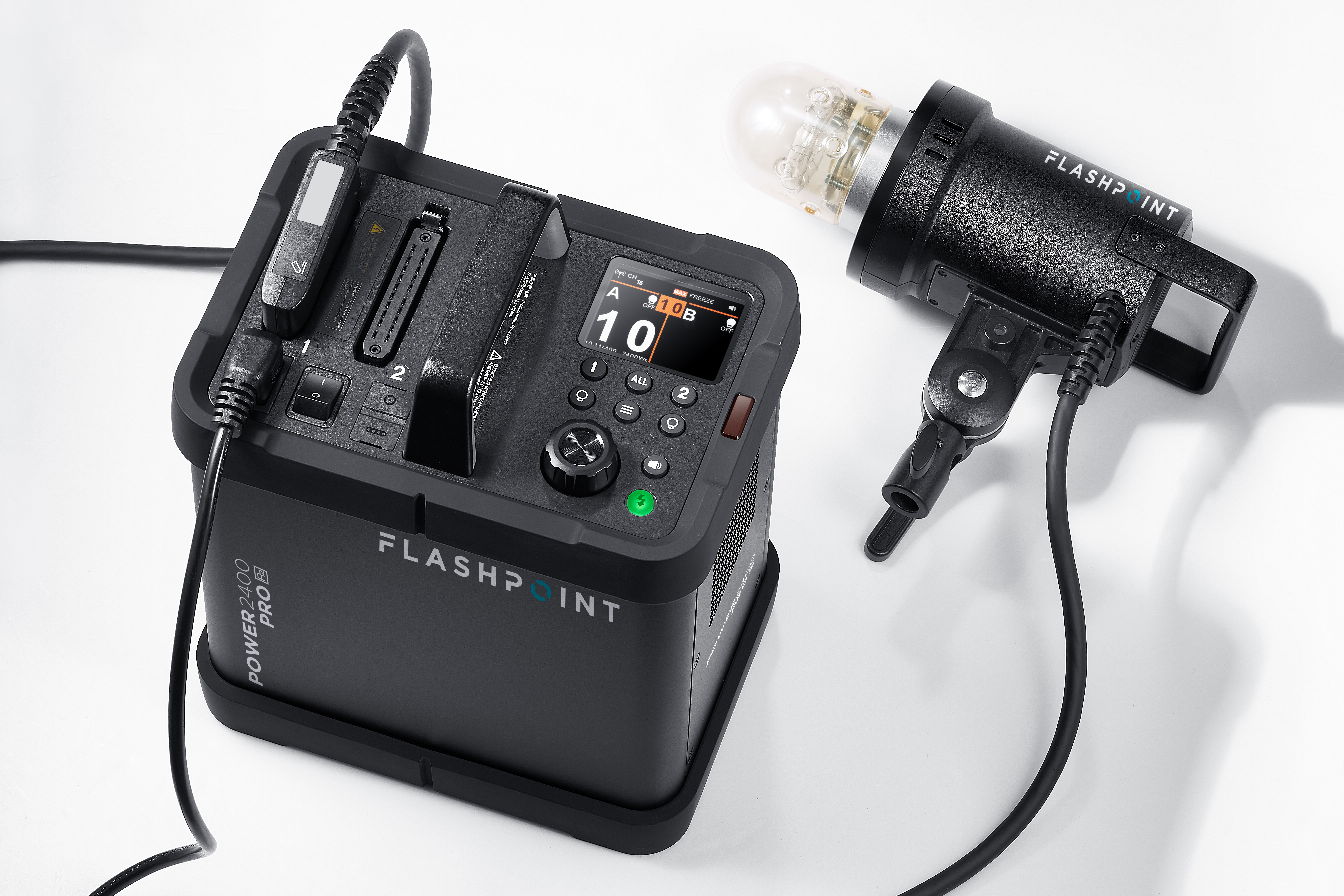 Flashpoint XPLOR Power 2400 Pro R2 Power Pack Kit With One H2400P Flash Head