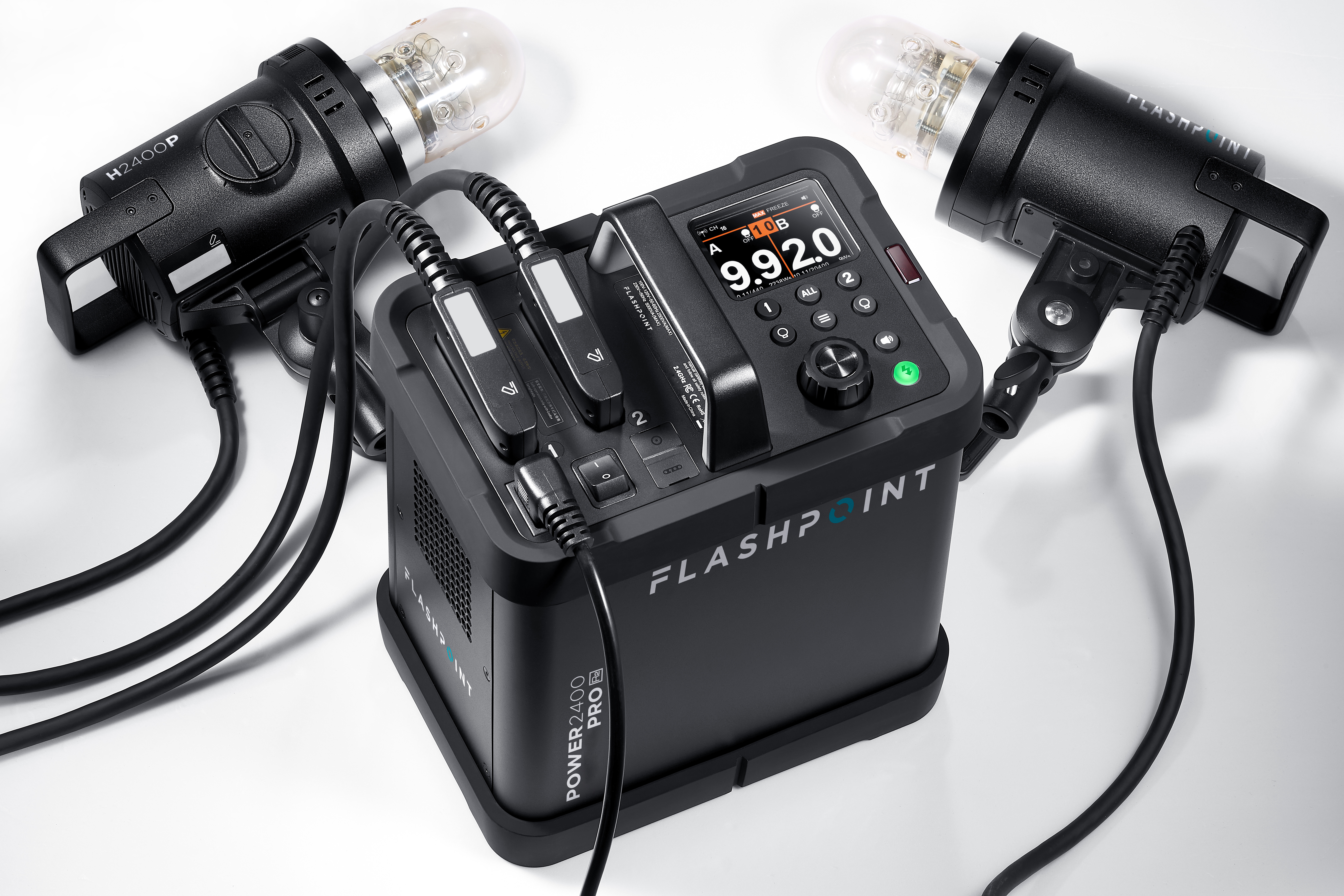 Flashpoint XPLOR Power 2400 Pro R2 Power Pack Kit With 2 H2400P Flash Heads